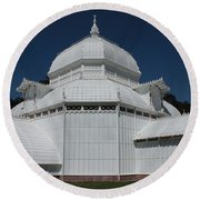 Golden Gate Conservatory Round Beach Towel