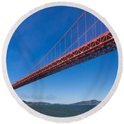 Golden Gate From The Bay Round Beach Towel
