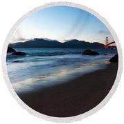 Golden Gate Tranquility Round Beach Towel