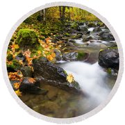 Golden Grove Round Beach Towel