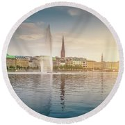 Golden Hamburg Round Beach Towel