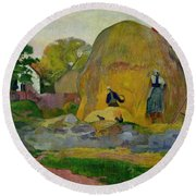 Golden Harvest Round Beach Towel