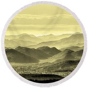 Golden Hills Of The Tonto Round Beach Towel