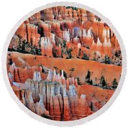 Golden Hour At Bryce Canyon 3 Round Beach Towel