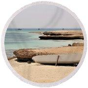 Golden Island Round Beach Towel