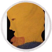 Golden Lady   -036 Round Beach Towel