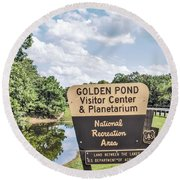 Golden Pond Visitor Center And Planetarium Round Beach Towel