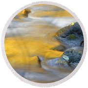 Golden Refuge Round Beach Towel