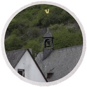 Golden Rooster St Sebastian Church Ehrenthal Germany Round Beach Towel