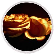Golden Roses 5 Round Beach Towel