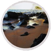 Golden Sand Round Beach Towel