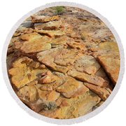Golden Slopes Of Valley Of Fire State Park Round Beach Towel