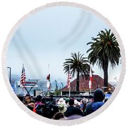 Golden State Berners Round Beach Towel