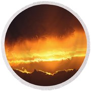 Golden Tiger Round Beach Towel
