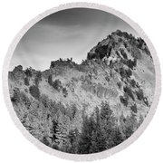 Golden Trail Crater Lake Rim Round Beach Towel