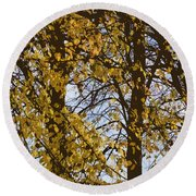 Golden Tree 2 Round Beach Towel