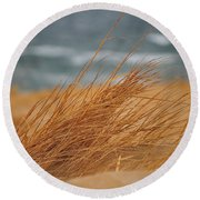 Golden View Round Beach Towel