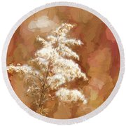 Goldenrod Plant In Fall Round Beach Towel