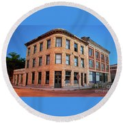 Goldfield Consolidated Mines Building Round Beach Towel