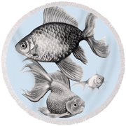 Goldfish Round Beach Towel