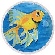 Goldfish Whisper Round Beach Towel