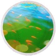 Goldfishes Round Beach Towel