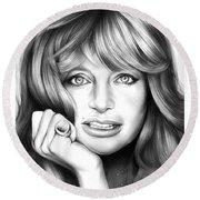 Goldie Hawn Round Beach Towel