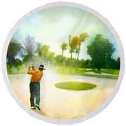 Golf At The Blue Monster In Doral Florida 02 Round Beach Towel