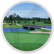 Golf Course Gold Coast Queensland Round Beach Towel