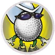 Golf Cowboy Round Beach Towel
