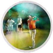 Golf In Club Fontana Austria 03 Round Beach Towel