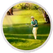 Golf In Spain Castello Masters  02 Round Beach Towel