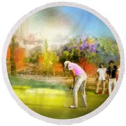 Golf Madrid Masters  02 Round Beach Towel