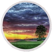 Golf Sunset Number 4 The Landing Reynolds Plantation Golf Art Round Beach Towel