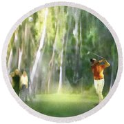 Golf Trophee Hassan II In Royal Golf Dar Es Salam Morocco 01 Round Beach Towel