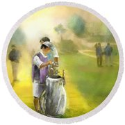 Golf Vivendi Trophy In France 03 Round Beach Towel
