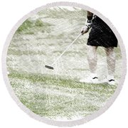 Golfing Putting The Ball 01 Pa Round Beach Towel