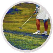 Golfing Putting The Ball 02 Pa Round Beach Towel