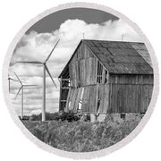 Gone With The Wind 3 Bw Round Beach Towel