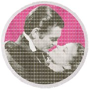 Gone With The Wind - Pink Round Beach Towel