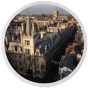 Gonville And Caius College Round Beach Towel