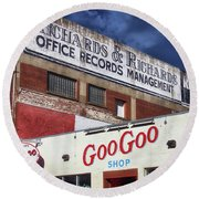 Goo Goo Shop Round Beach Towel