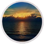 Good Day New Day Round Beach Towel
