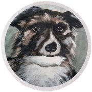 Good Dog By Christine Lites Round Beach Towel