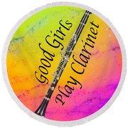 Good Girls Play Clarinet 5028.02 Round Beach Towel