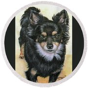 Good Golly Miss Molly Round Beach Towel