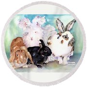 Good Hare Day Round Beach Towel