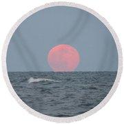 Good Moon Rising  Round Beach Towel