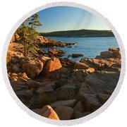 Good Morning Acadia Round Beach Towel