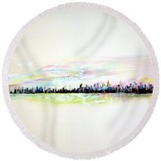 Good Morning America Round Beach Towel
